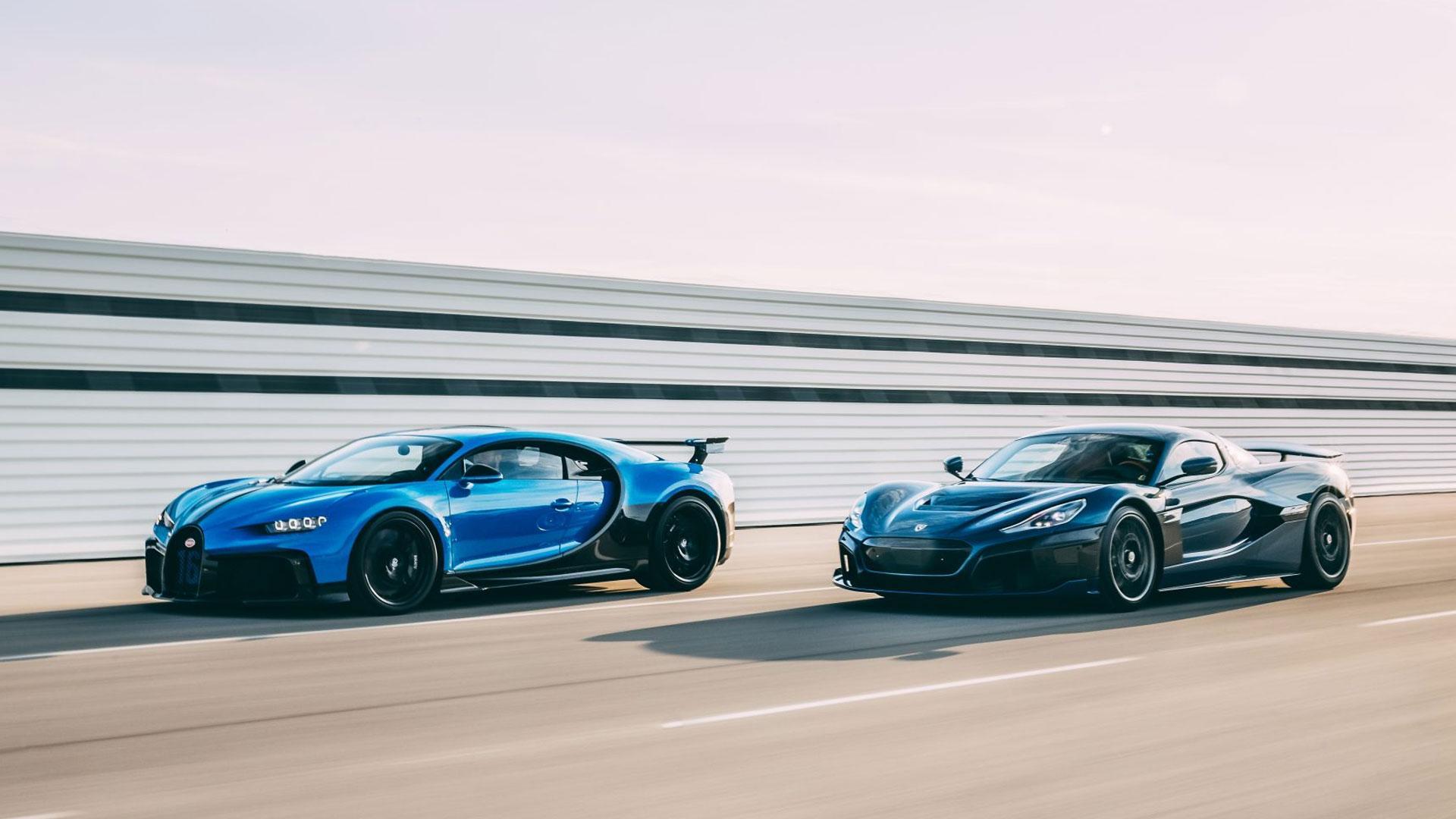 Bugatti Chiron en Rimac Nevera