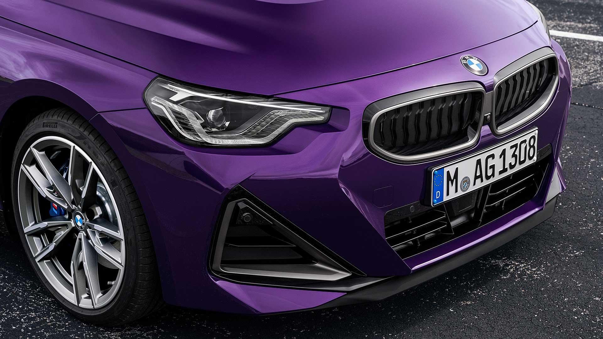 Grille en koplampen BMW M240i