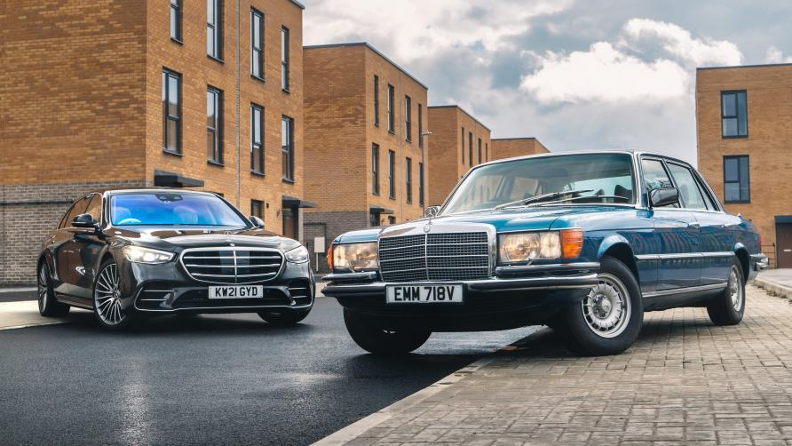 Mercedes S 500 (2021) vs Mercedes 450 SEL (1980)