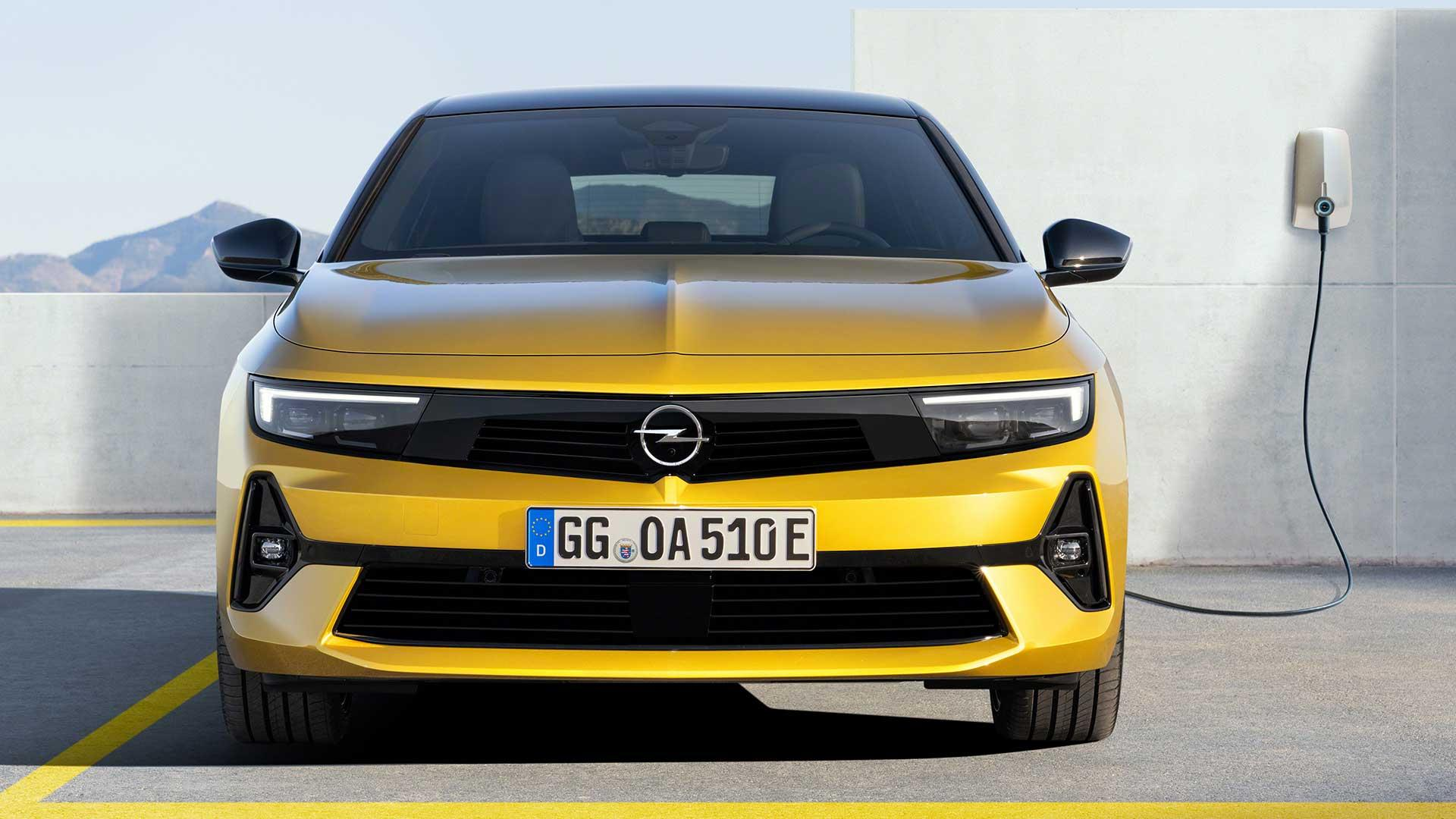 Voorkant Opel Astra (2021)