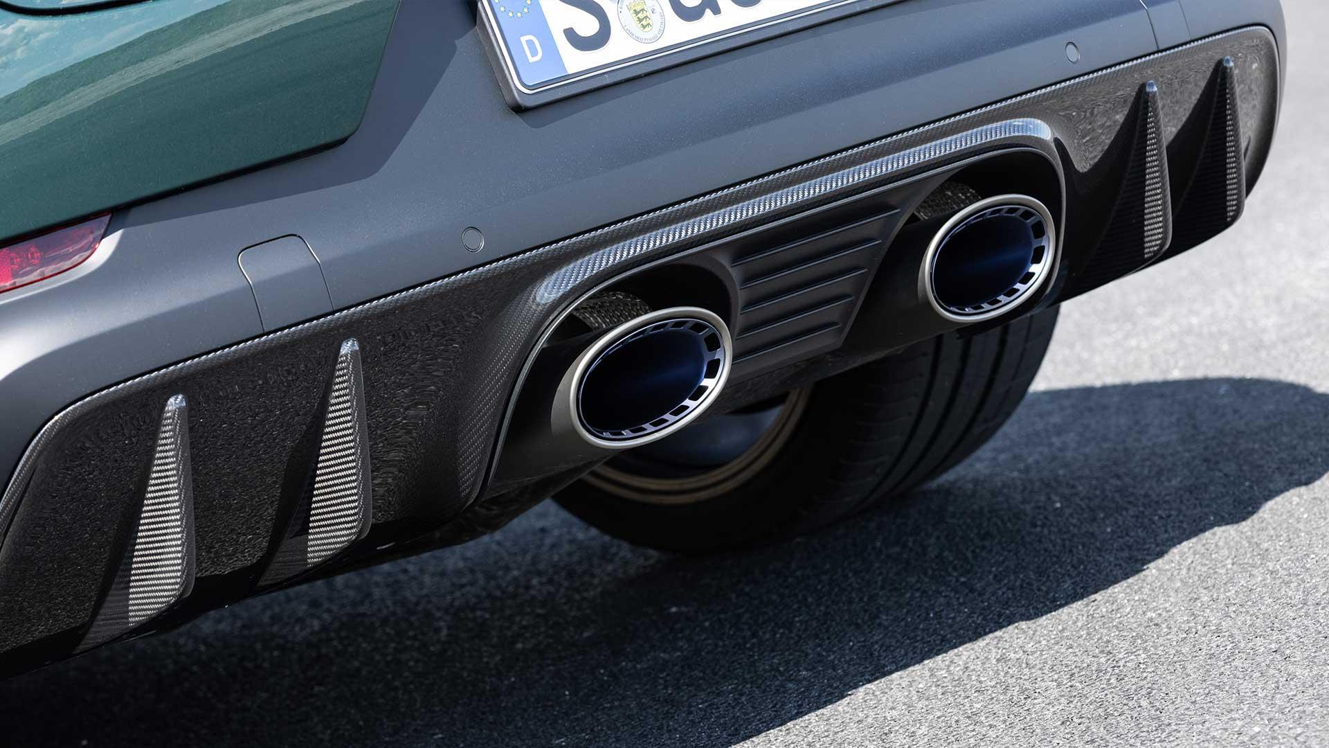 Uitlaten Porsche Cayenne Turbo GT