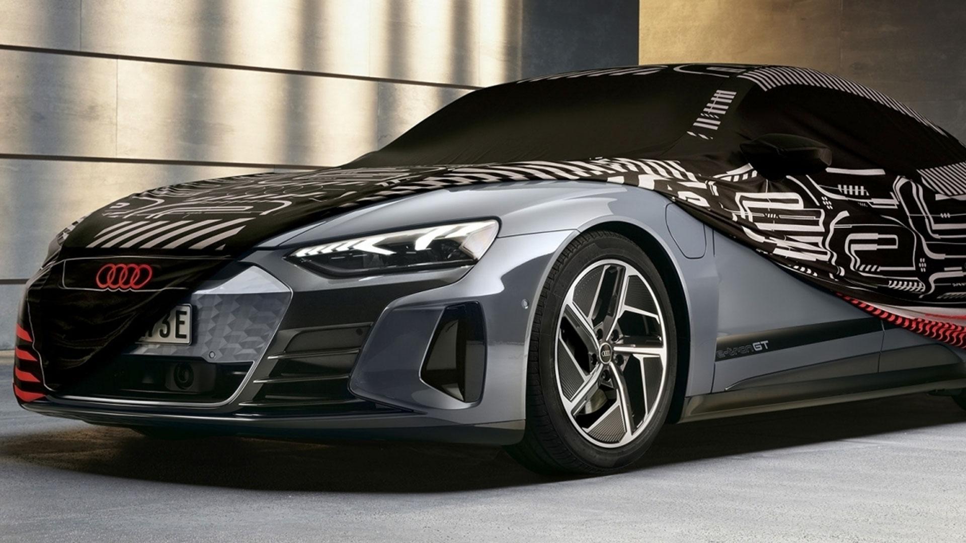 Autohoes Audi e-tron GT lijkt op de conceptcar