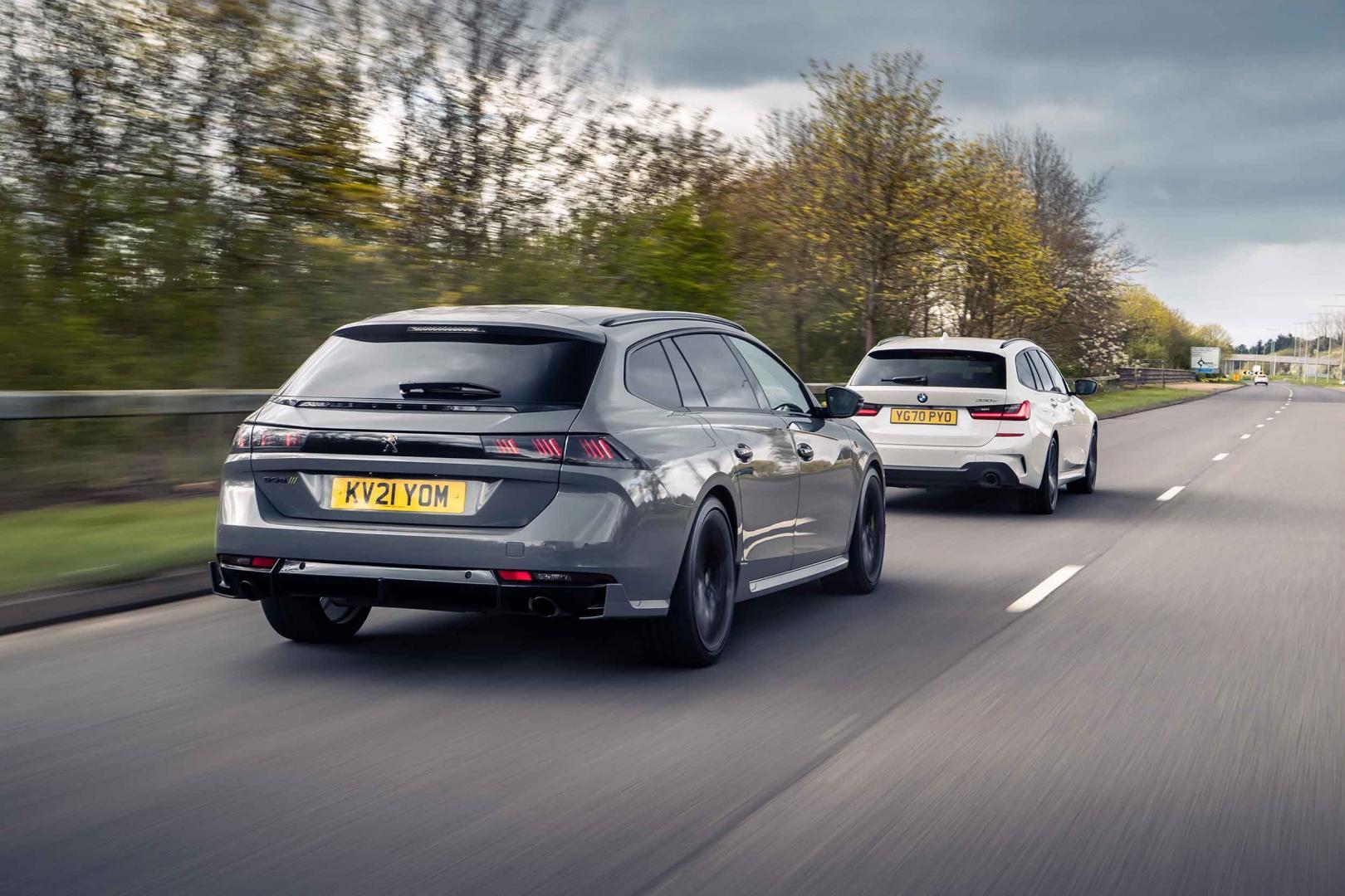 BMW 330e Touring vs Peugeot 508 PSE SW