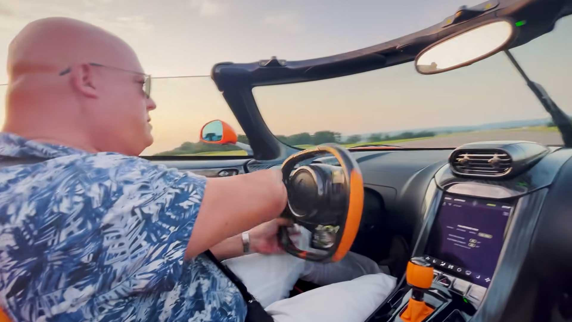 Christian von Koenigsegg in de Jesko (geluid)