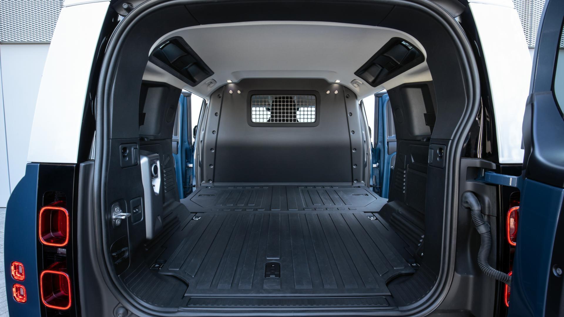 Laadruimte Land Rover Defender 90 Commercial (grijs kenteken)