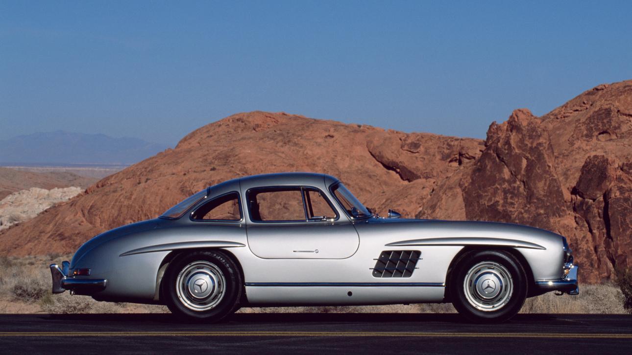 Mercedes 300 SL zijkant