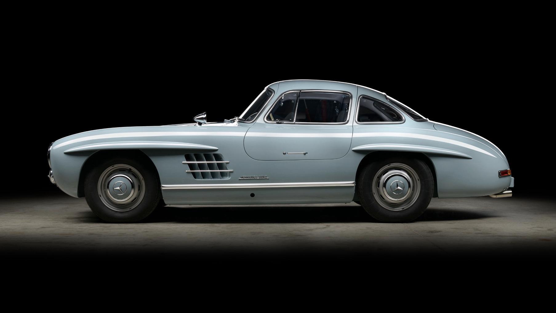 Zijkant Mercedes 300 SL
