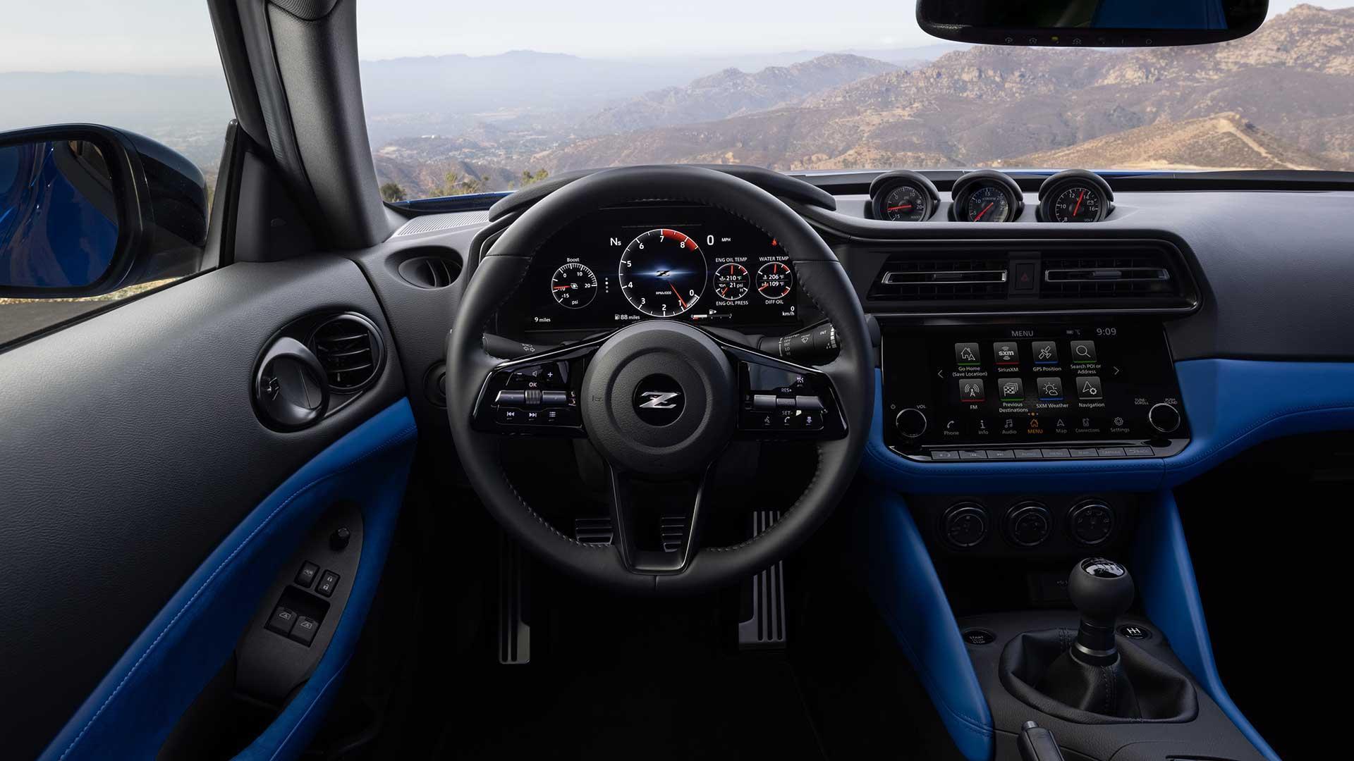 Interieur Nissan Z (blauw)