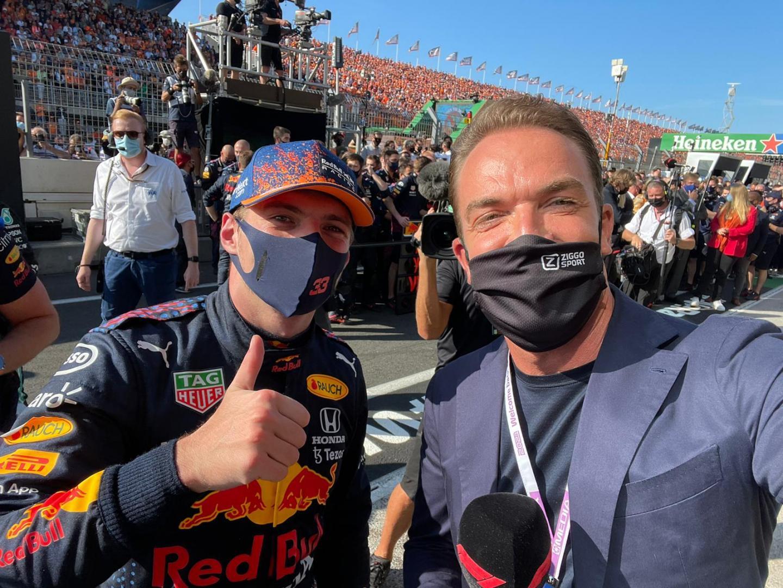 Robert Doornbos na Zandvoort Dutch GP 2021 met Max Verstappen