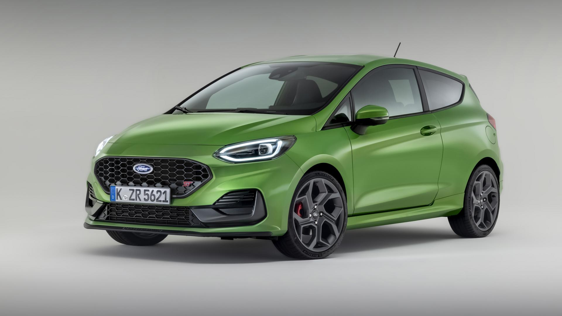 vernieuwde Ford Fiesta ST (2021) in de studio
