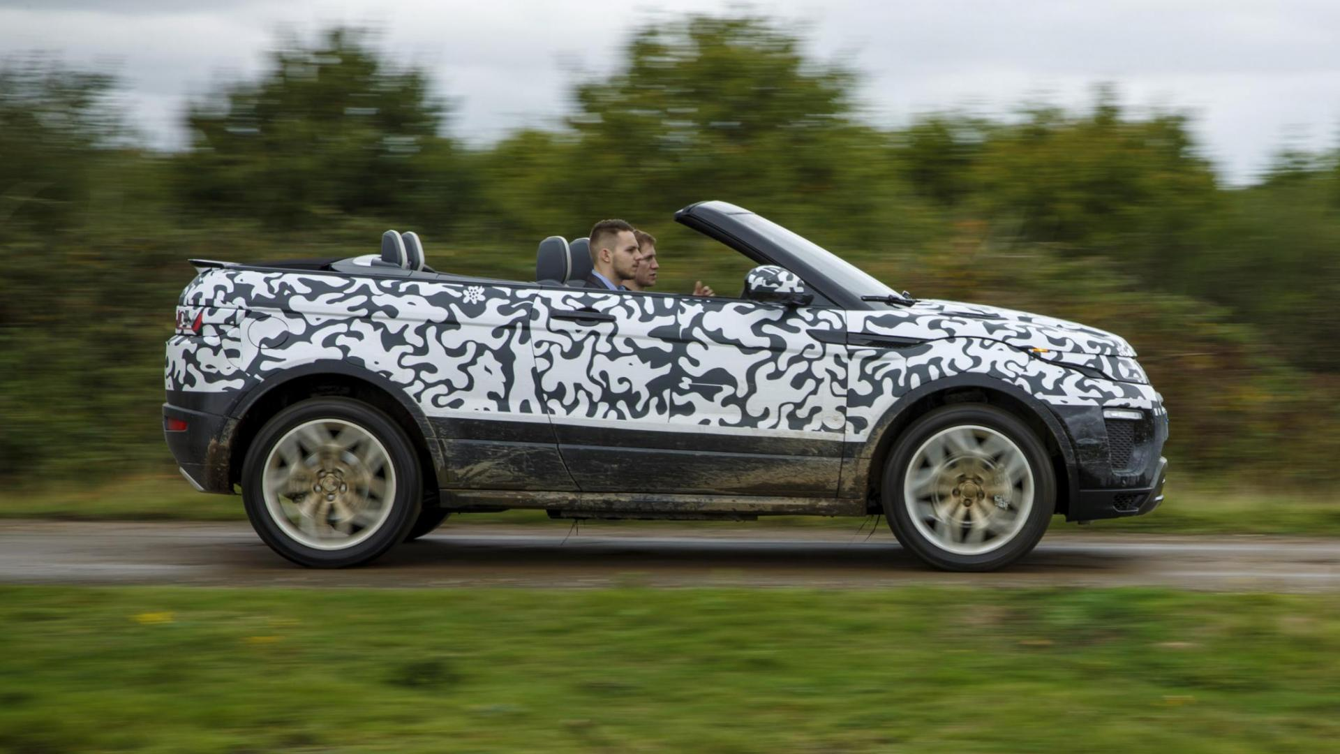 range rover evoque cabrio is hier topgear. Black Bedroom Furniture Sets. Home Design Ideas