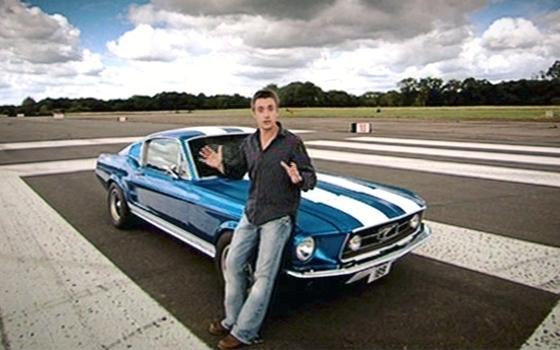 Richard Hammond In De Ford Mustang Topgear