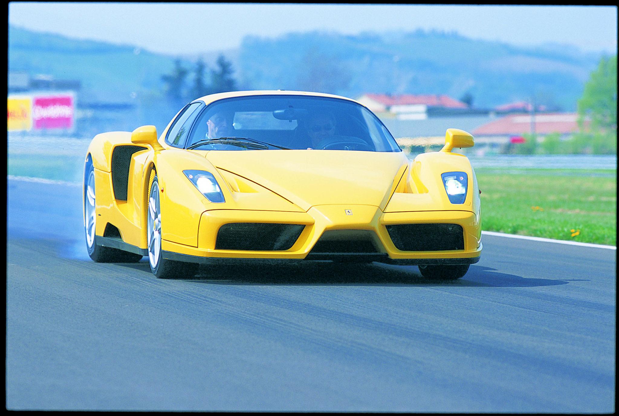 snelste Ferrari's op Fiorano enzo