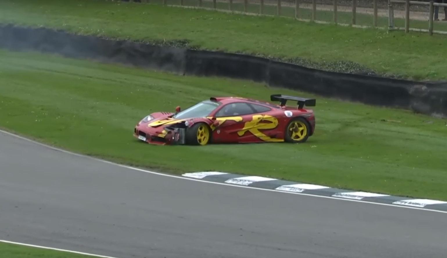 McLaren F1 GTR crash Nick Mason