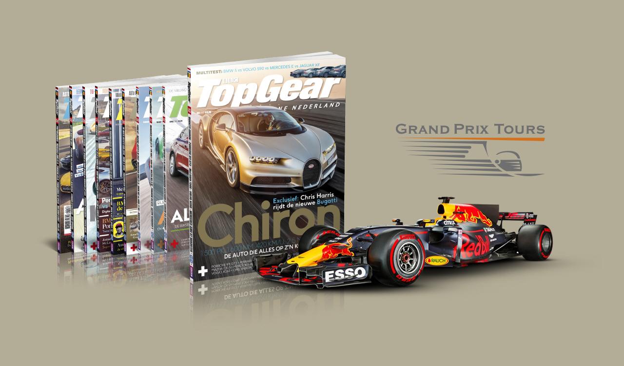 TopGear-abonnement met kans op F1-weekend Monza