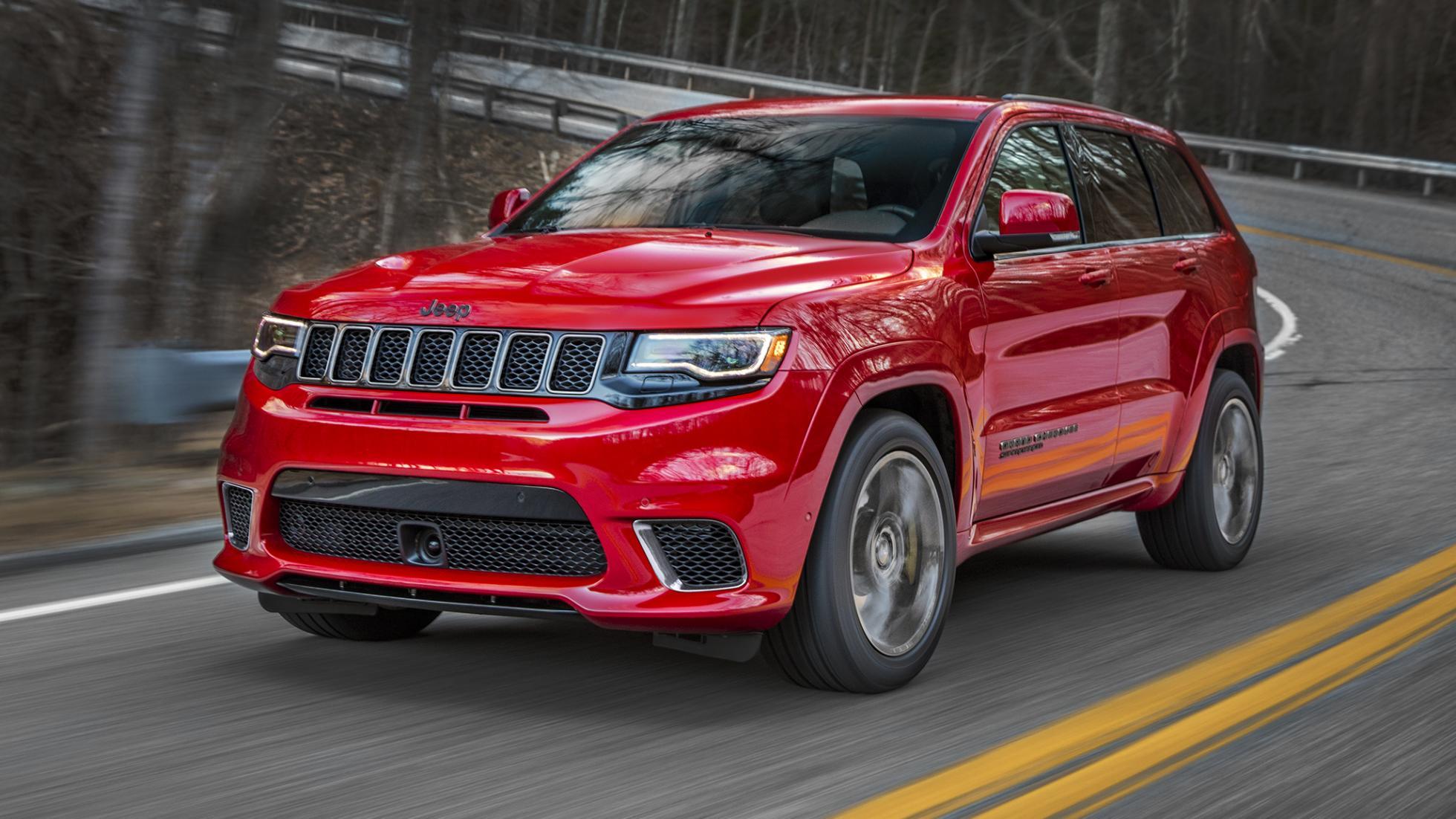Jeep Grand Cherokee Trackhawk 2017 rood