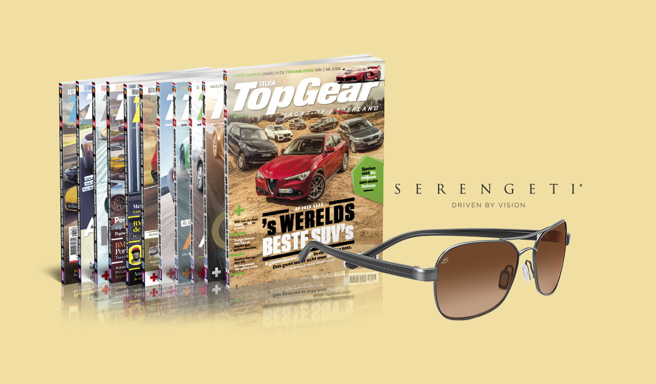 TopGear-abonnement met Serengeti-zonnebril