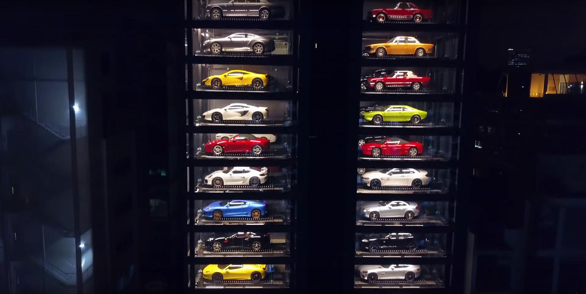 Supercars in snoepautomaat