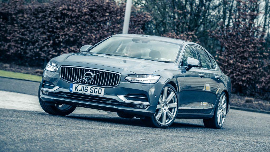 BMW 5-serie vs Volvo S90 vs Mercedes E-klasse vs Jaguar XF