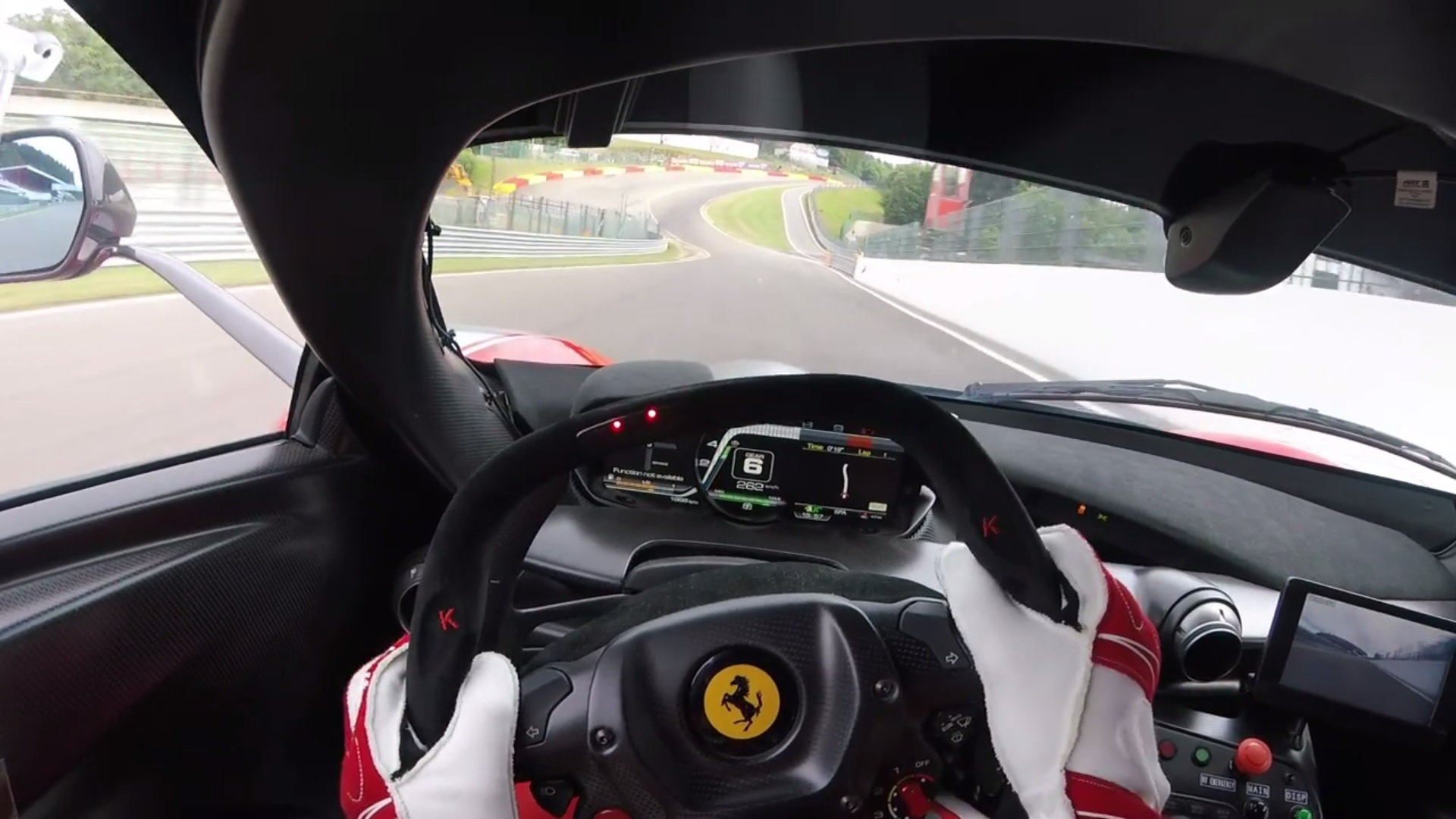 Ferrari FXXK op Spa-Francorchamps