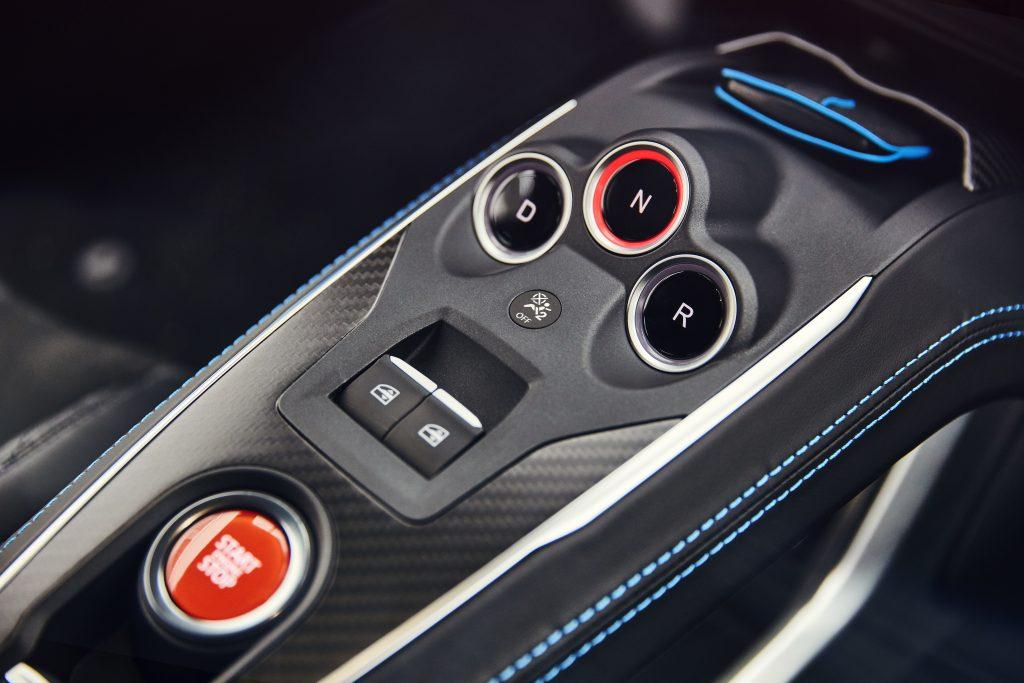 Alpine A110 Première Edition middenconsole (2018)