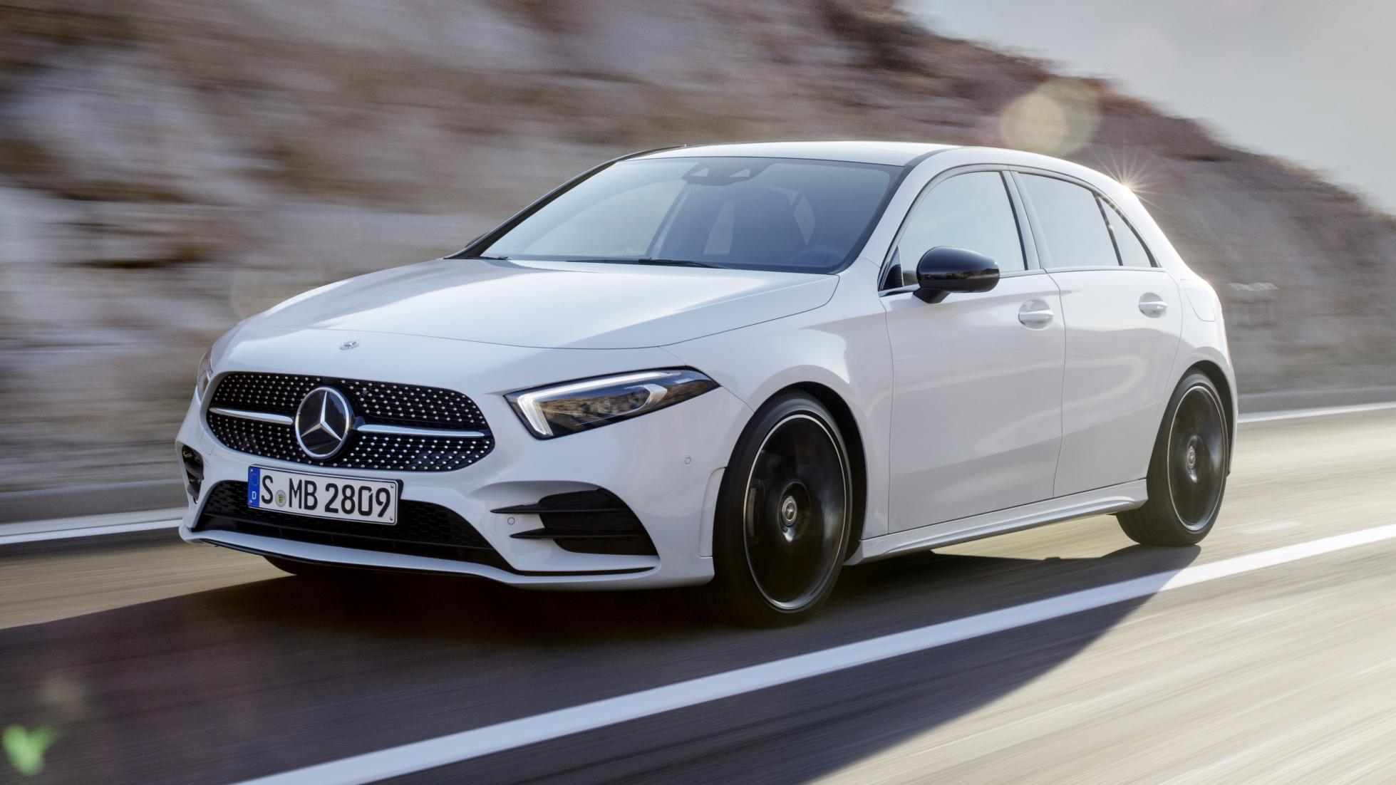 Nieuwe Mercedes A-klasse 2018 wit