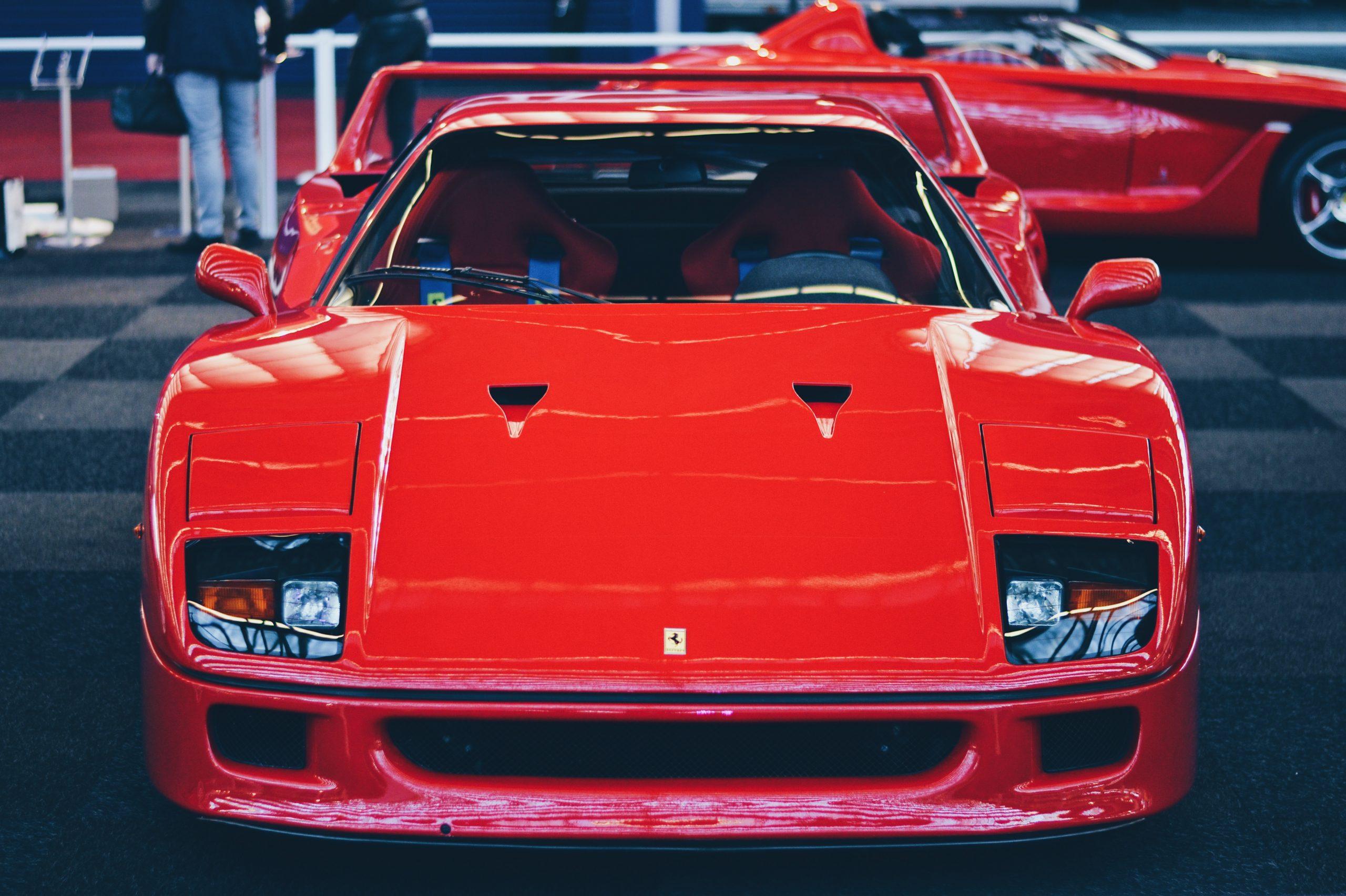 Onverzekerde Ferrari F40 Amsterdam International Motor Show ferrari f40