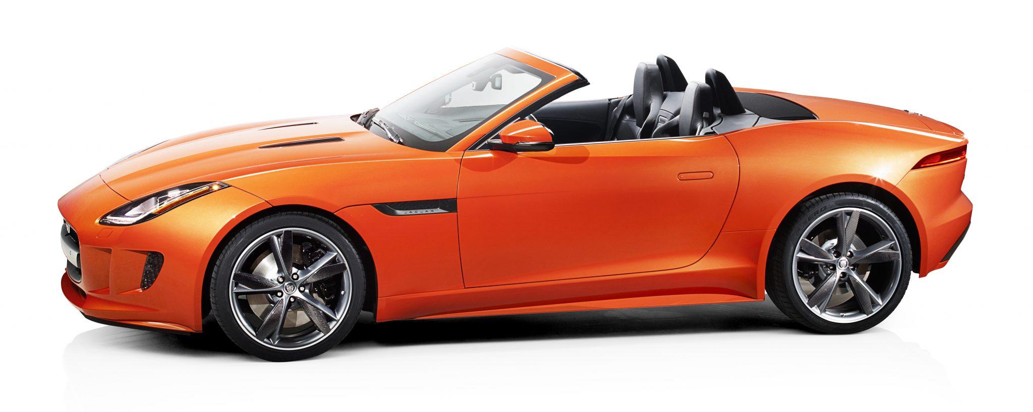Jaguar F-type oranje