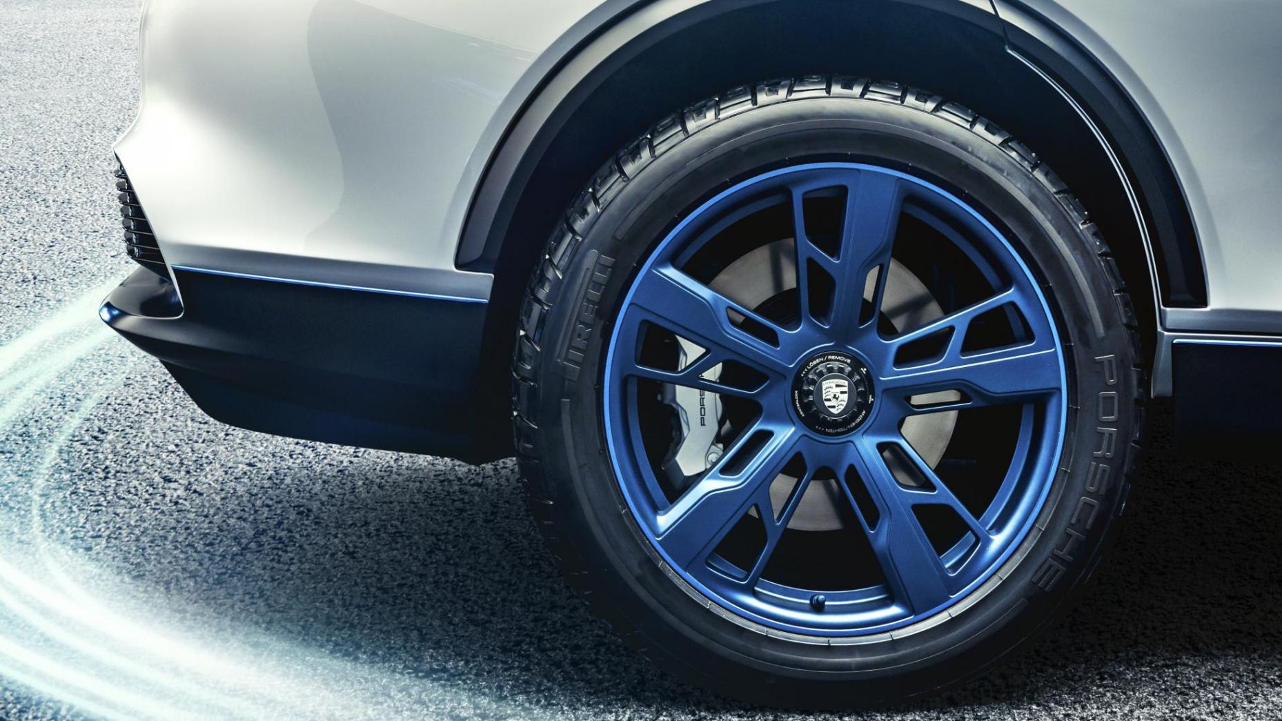 Porsche Mission E Cross Turismo Velgen Blauw
