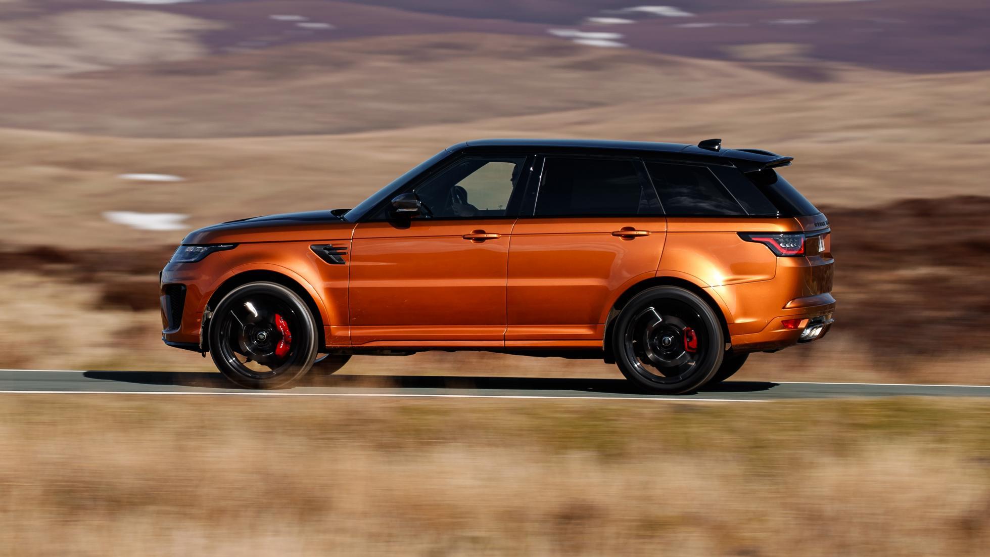 Land Rover Range Rover Sport SVR zijkant