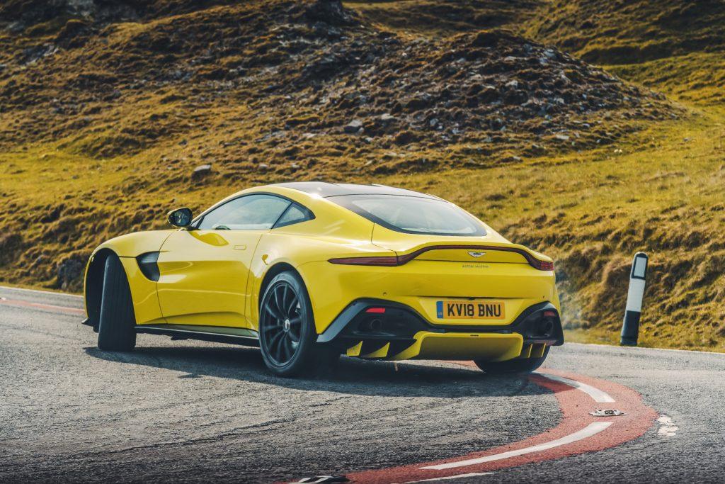 Aston Martin Vantage achterkant