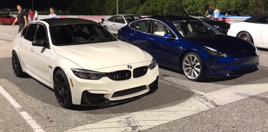 Tesla Model 3 Performance vs BMW M3 Competition