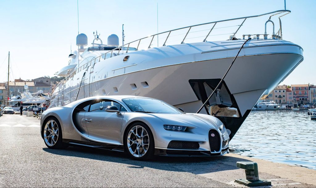 Bugatti Chiron jacht boot