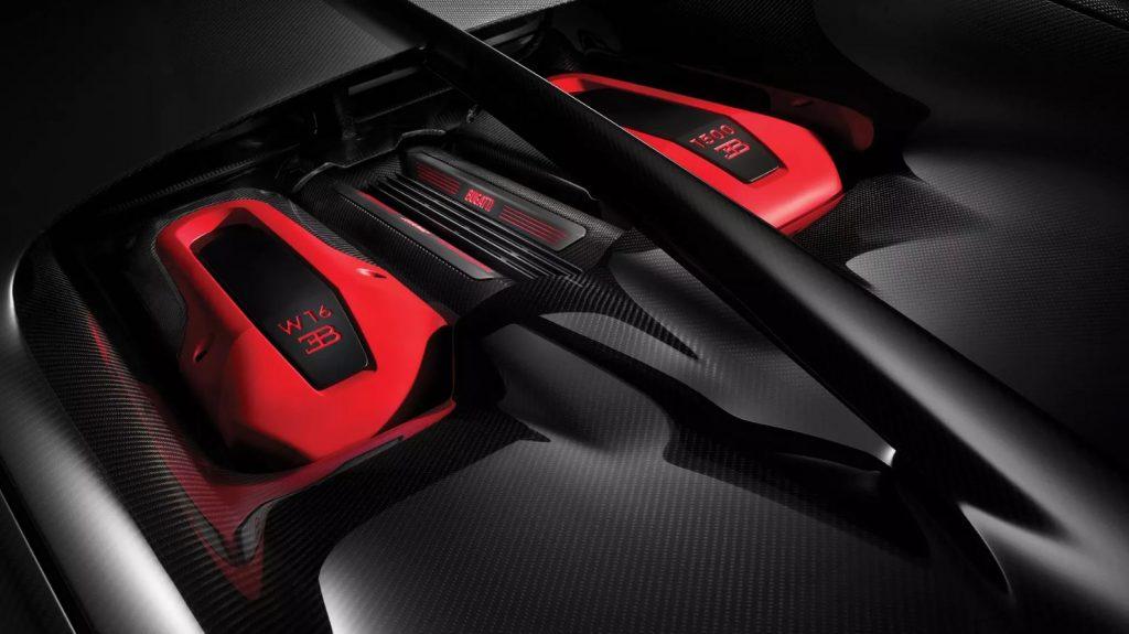 Bugatti W16 zestiencilinder Chiron