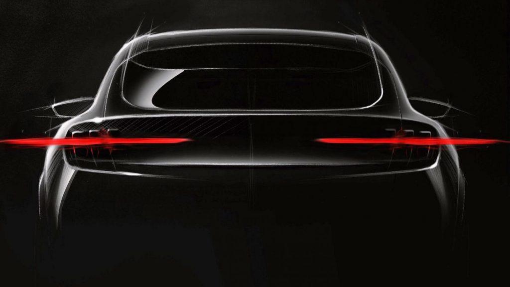 Ford elektrische plug-in SUV Mustang achterlichten