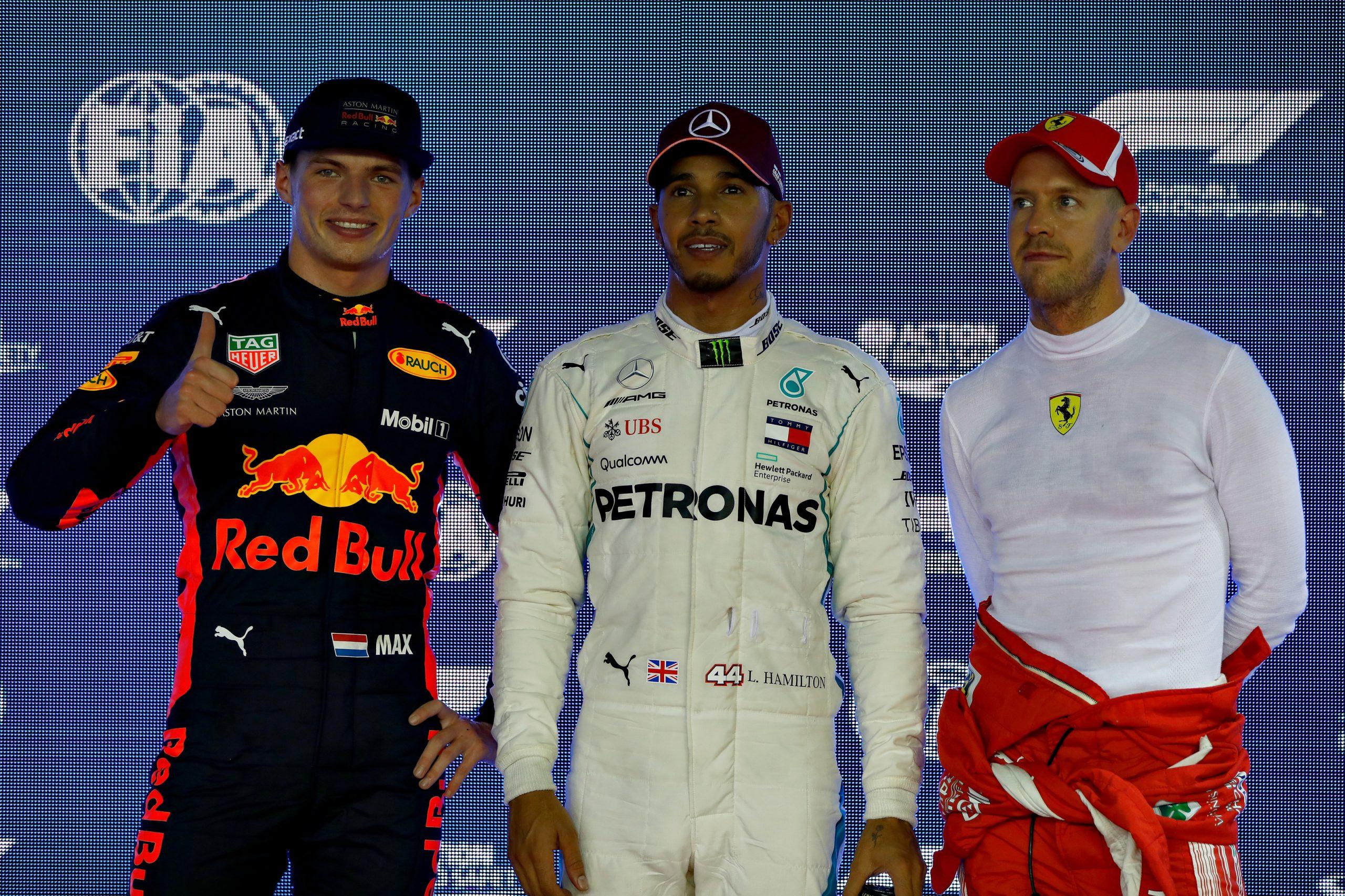 Max Verstappen Sebastian Vettel Lewis hamilton