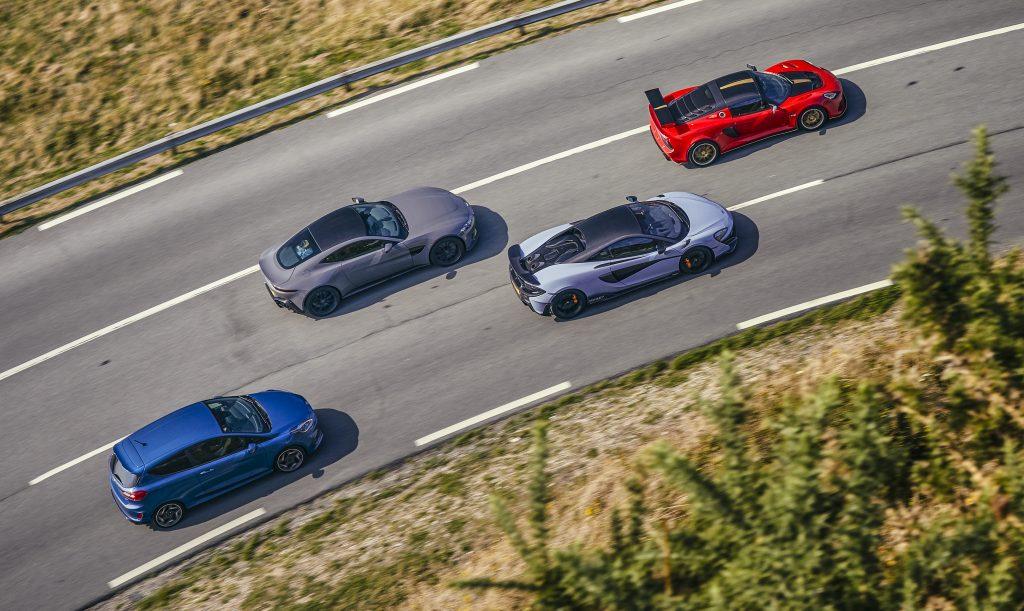 Vantage vs 600LT vs Lotus Exige vs Fiesta ST 10