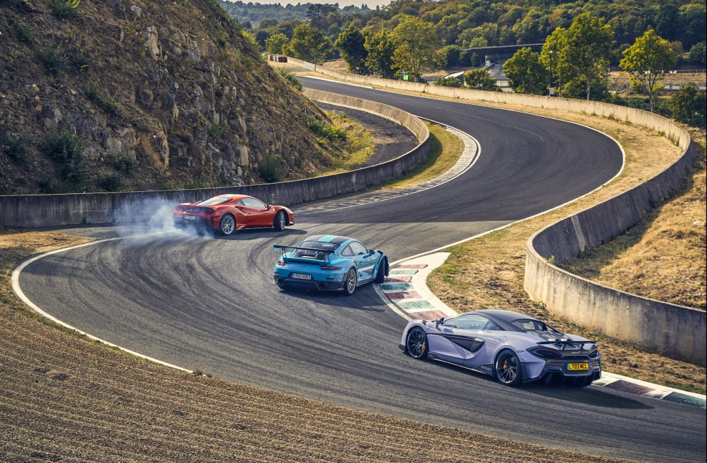 Porsche 911 GT2 RS vs Ferrari 488 Pista vs McLaren 600LT