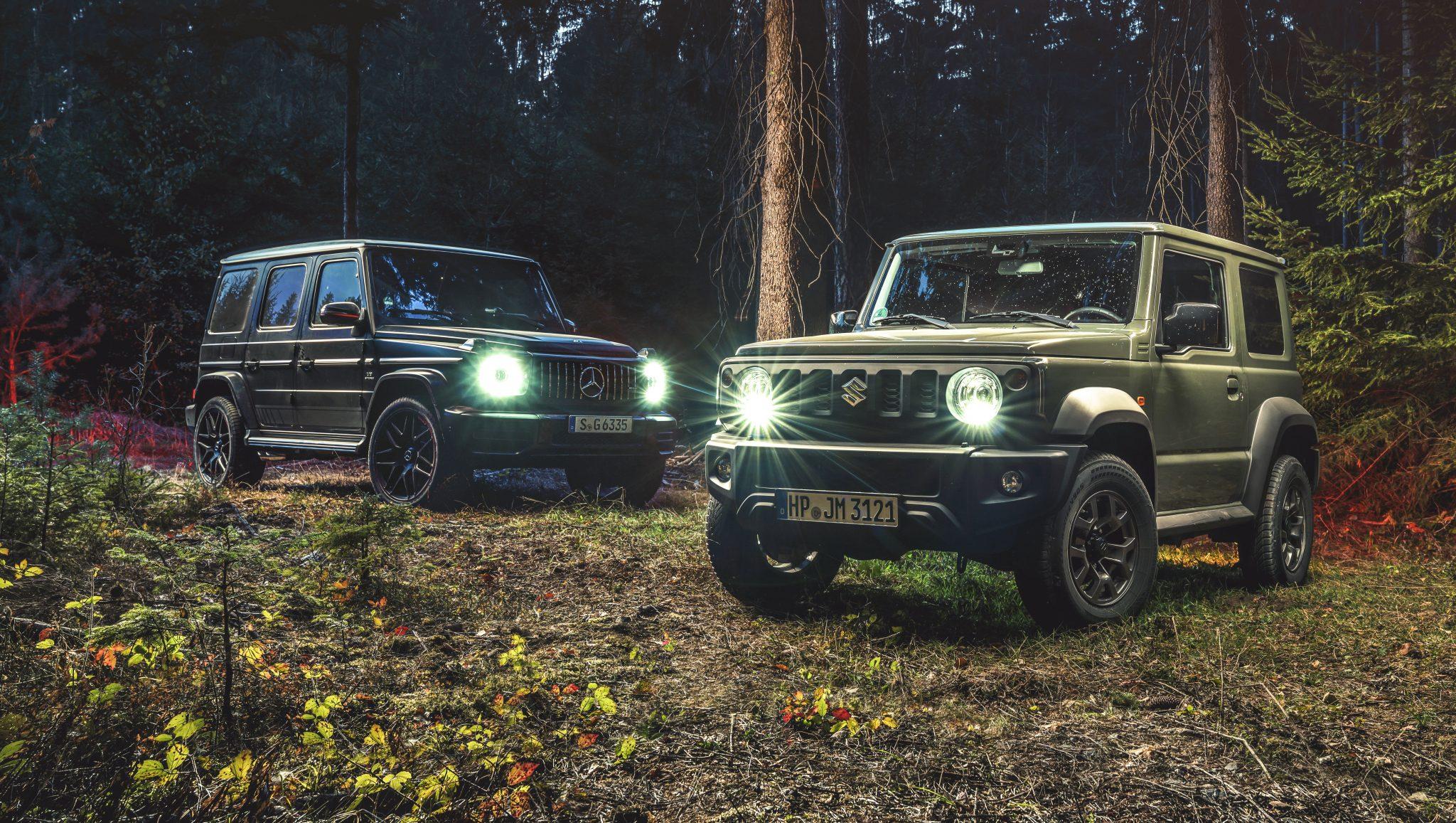 Suzuki Jimny vs Mercedes-AMG G 63