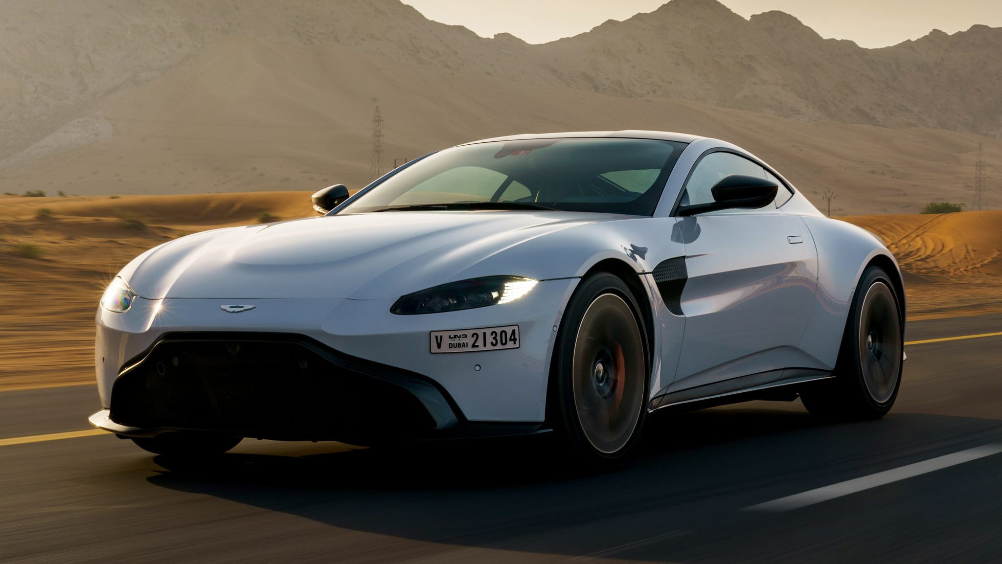 Aston Martin Vantage van Max Verstappen