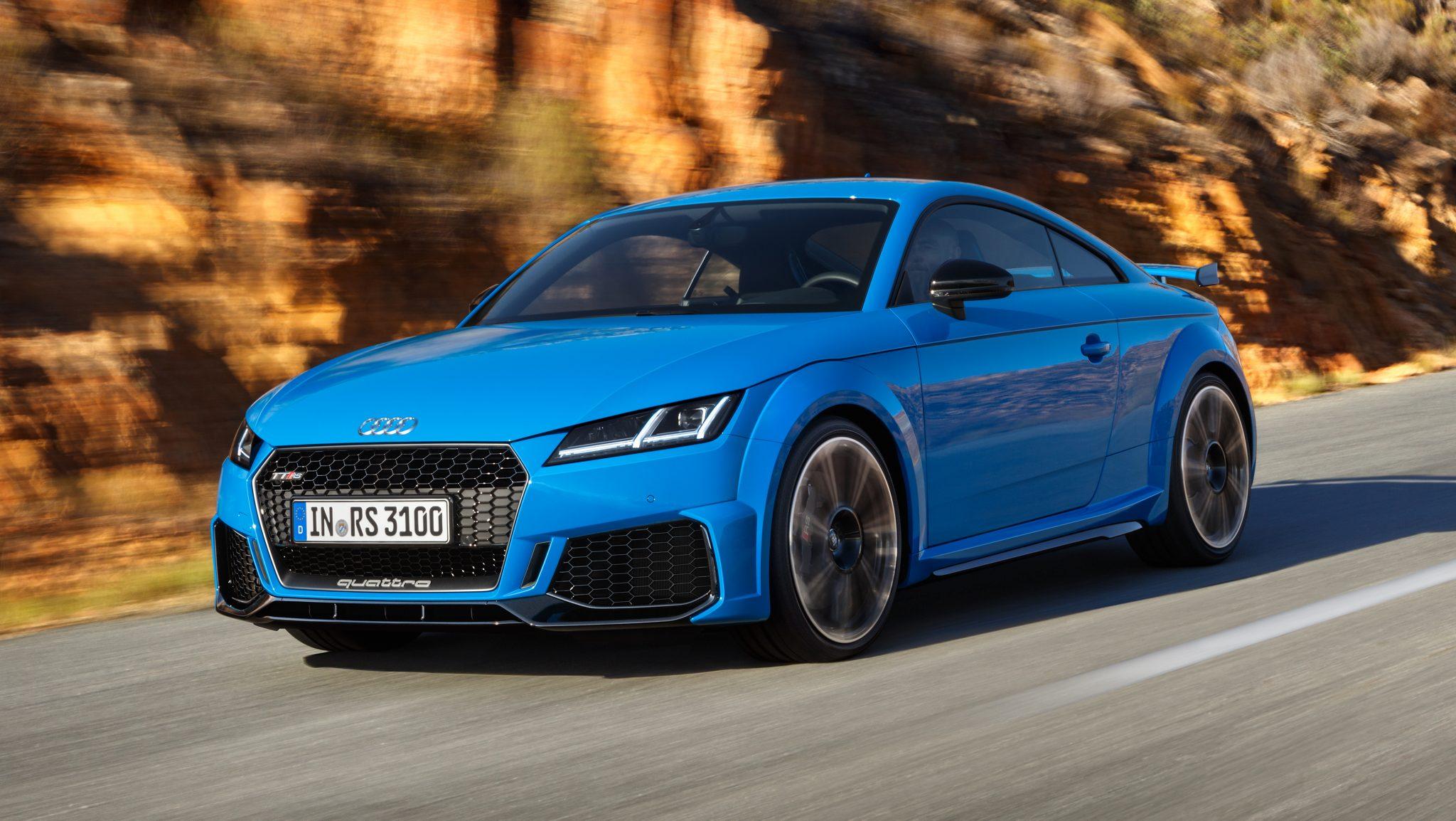 Audi TT RS Facelift 2019 blauw