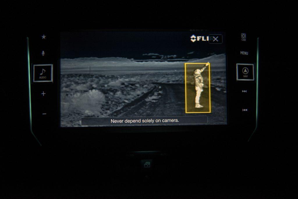 de Rezvani Tank beeldscherm