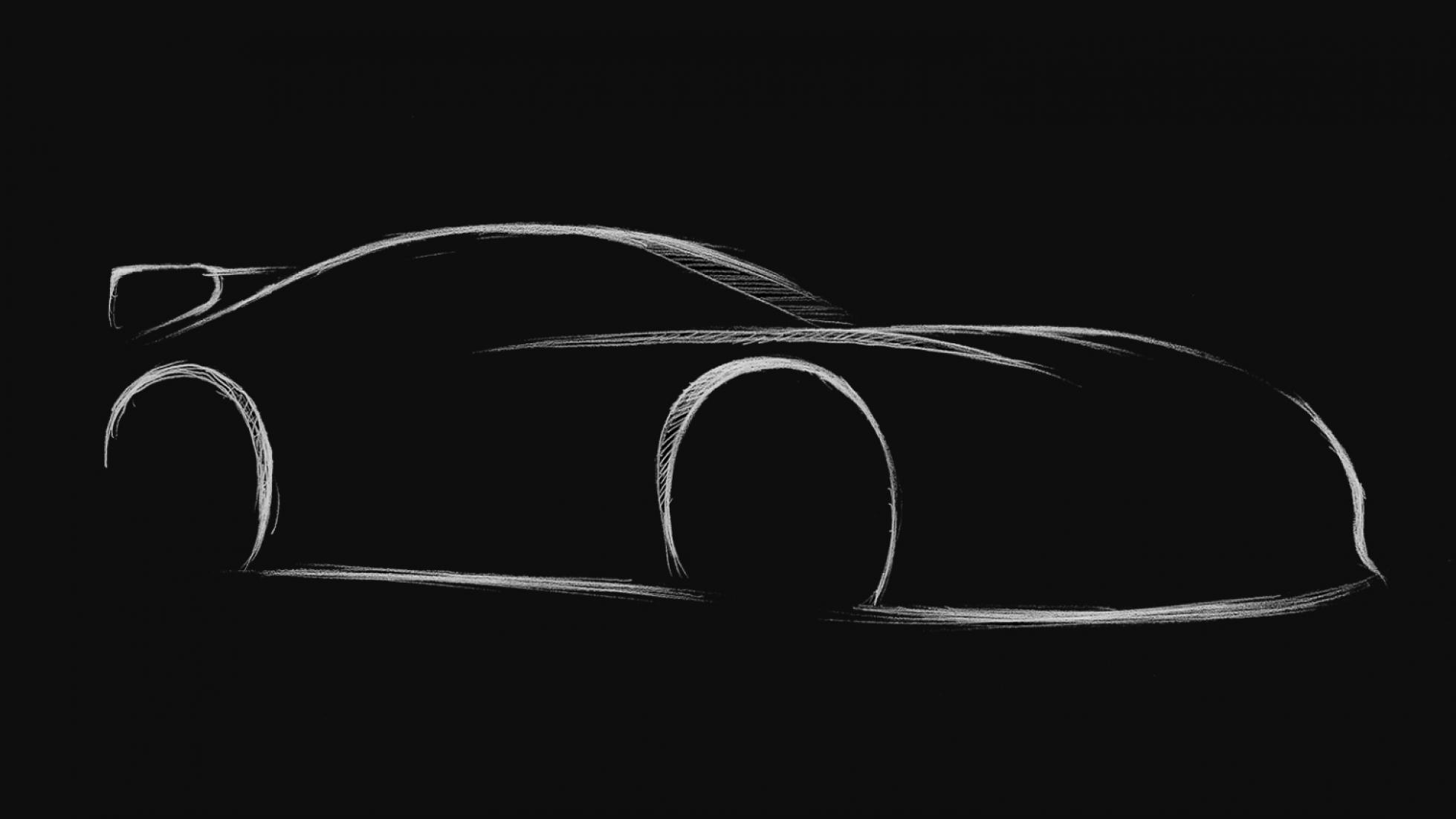 Schets nieuwe Toyota Supra TRD