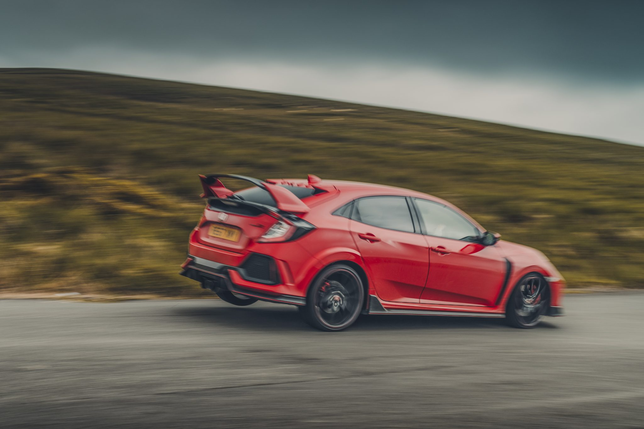 Honda Civic Type R bocht rood