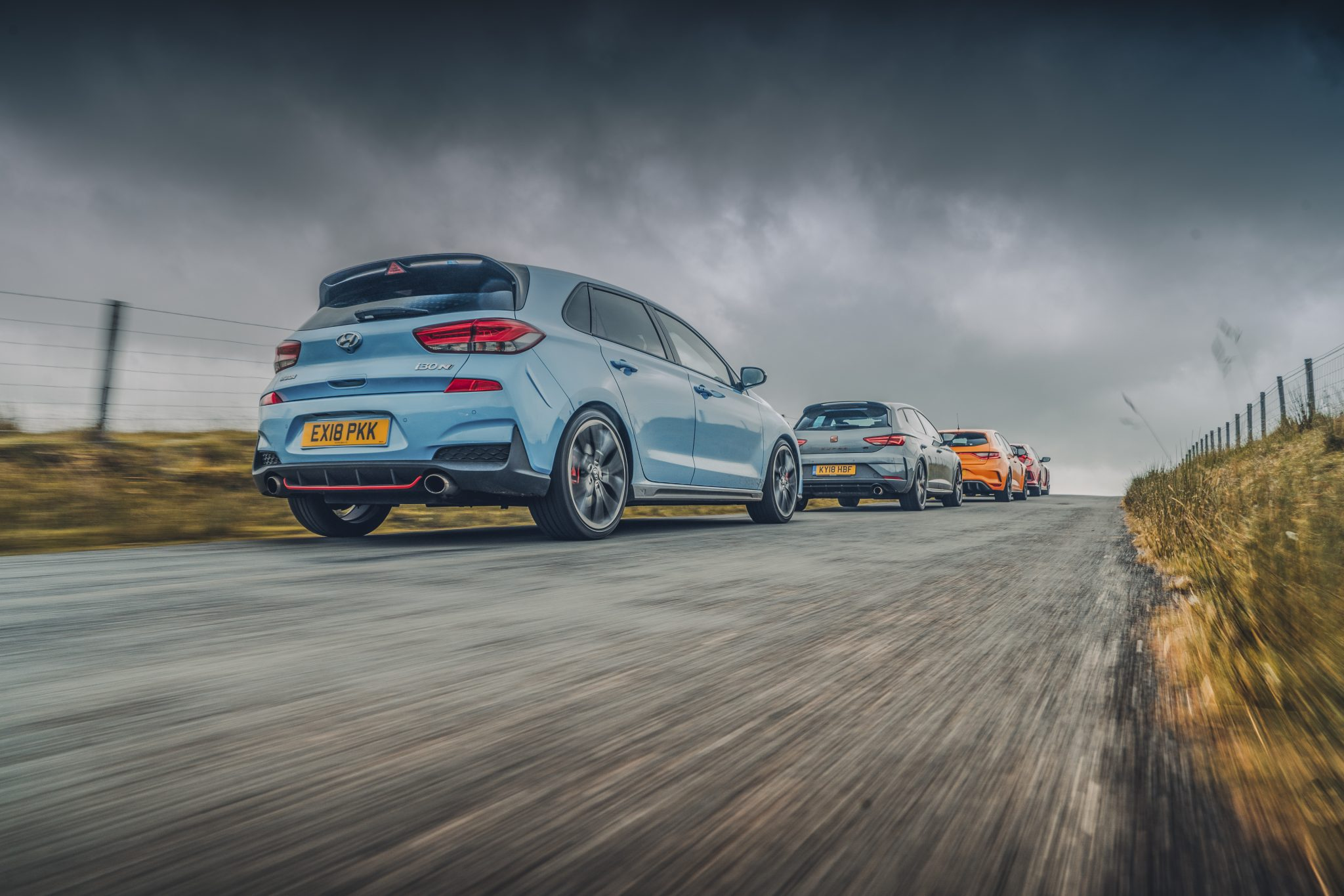 Seat Leon Cupra R vs Renault Mégane RS 280 vs Honda Civic Type R vs Hyundai i30 N Performance