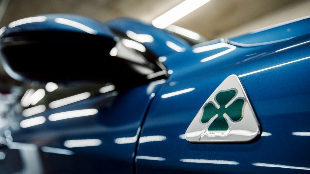 Alfa Romeo Stelvio Quadrifoglio detail badge