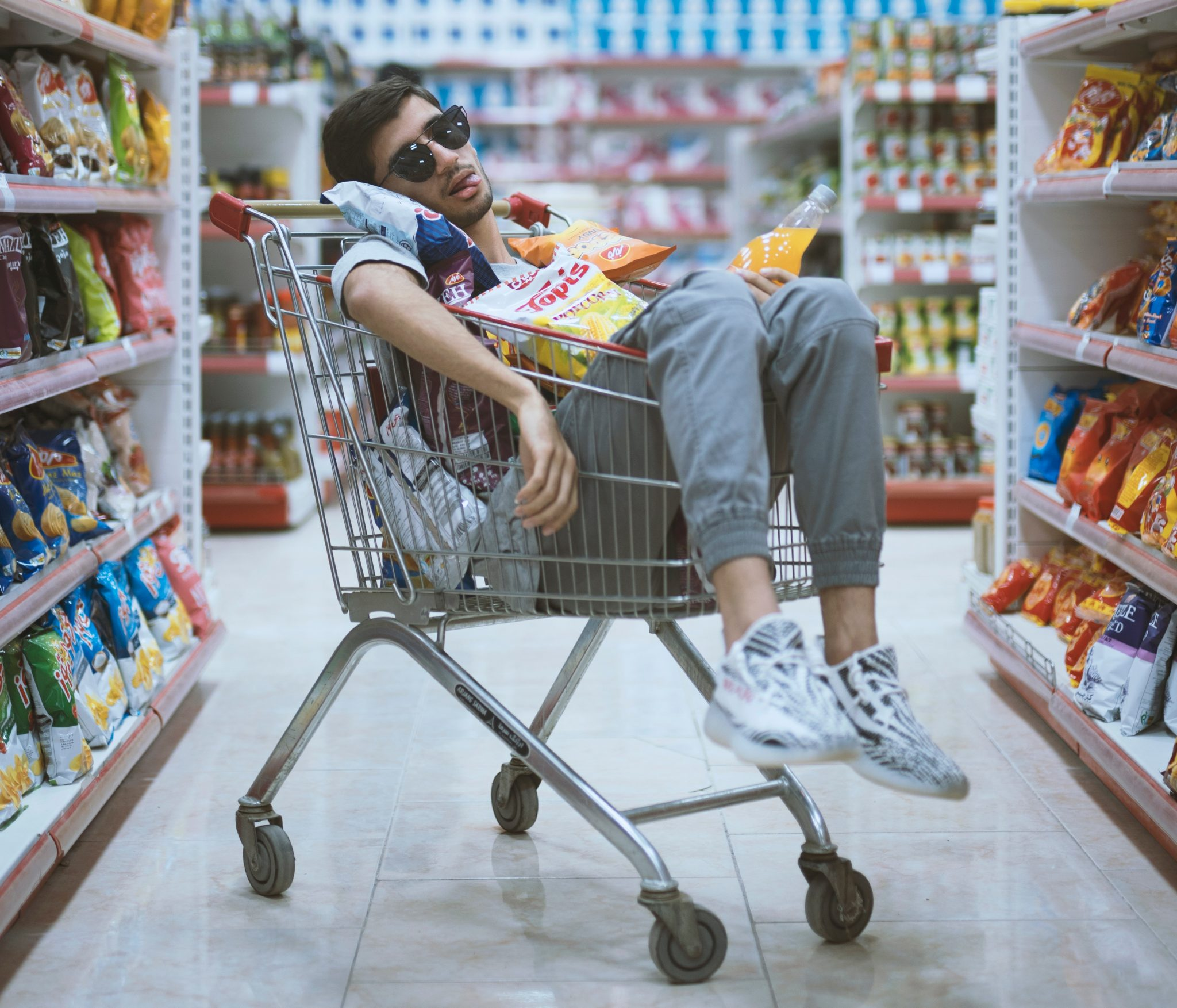 winkelwagen supermarkt