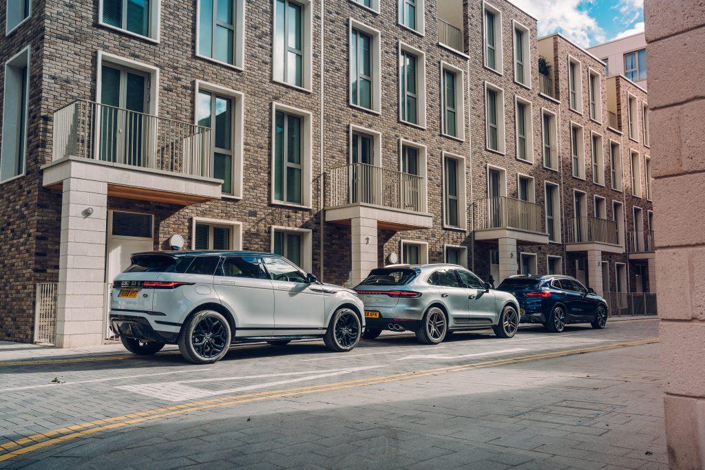 Range Rover Evoque vs BMW X2 vs Porsche Macan