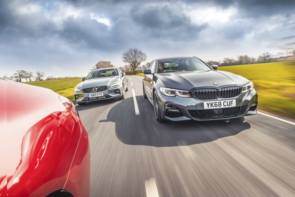 Mercedes C300 vs Volvo S60 T5 vs BMW 330i