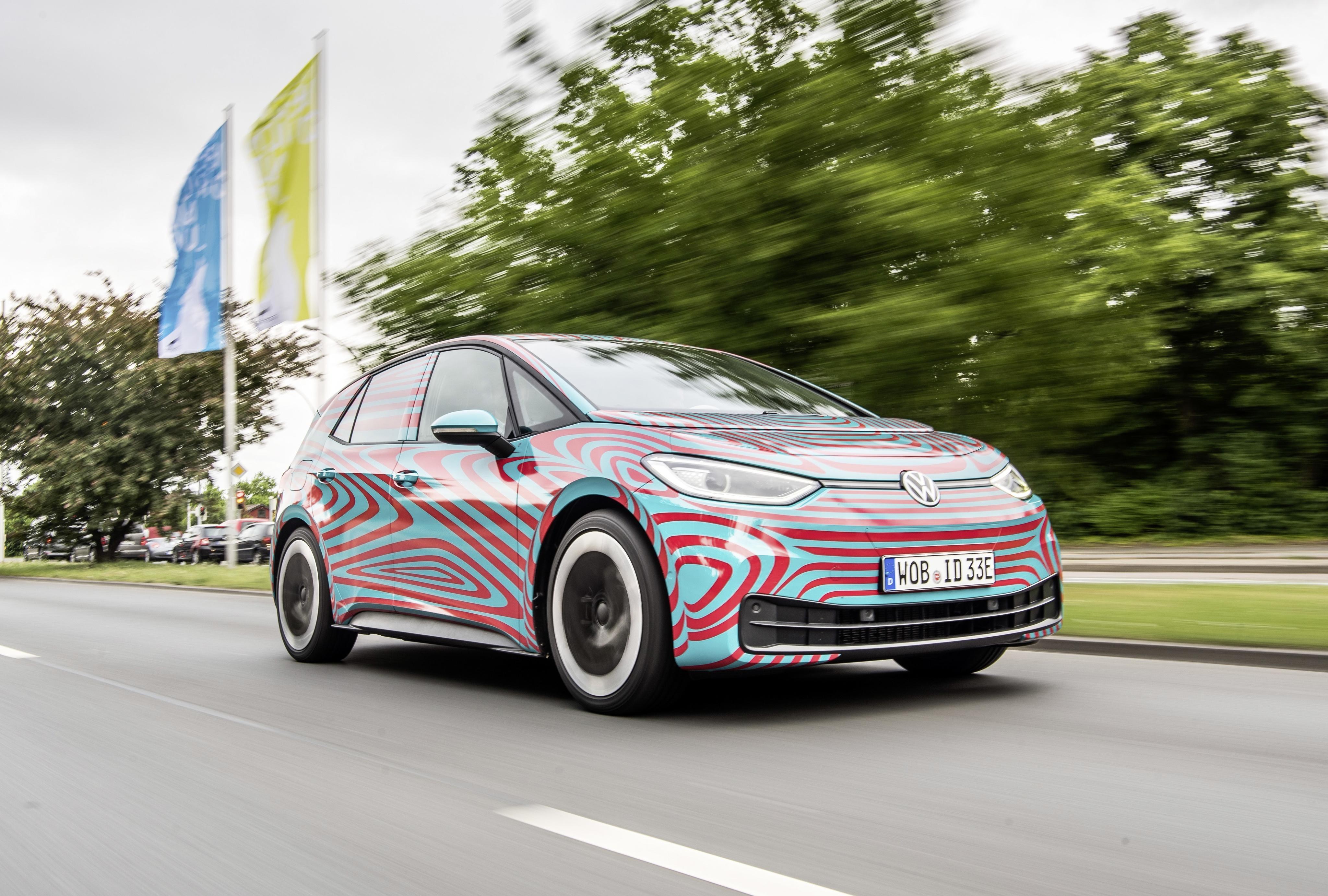 Volkswagen ID 3 camouflage IAA Frankfurt 2019